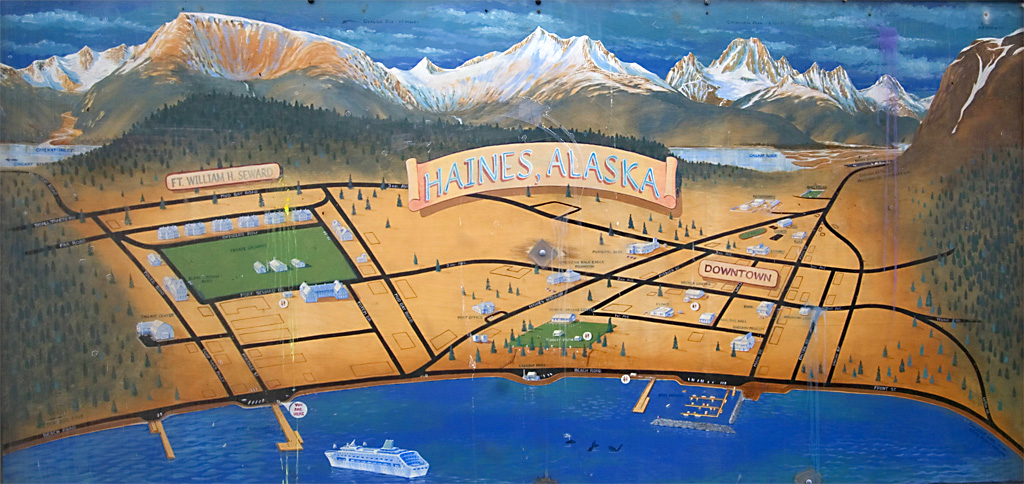 Haines Alaska Map Haines Map
